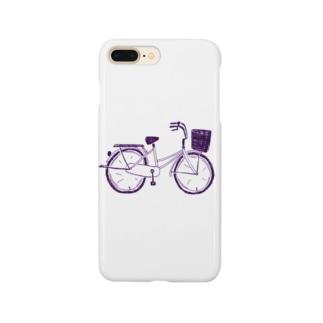 自転車デザイン「ママチャリ」 Smartphone cases