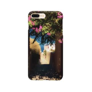 flower alley in Santorini Smartphone cases