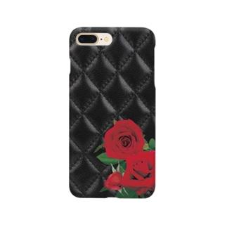 キルティング×薔薇 Smartphone cases