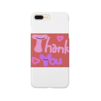 カラフルかわいいシリーズ Thank You Smartphone cases