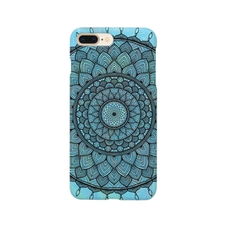 曼荼羅 on マーブル模様 9 Smartphone cases