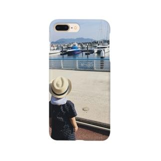 初めての海とヨット Smartphone cases