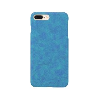 水色シンプルケース Smartphone cases