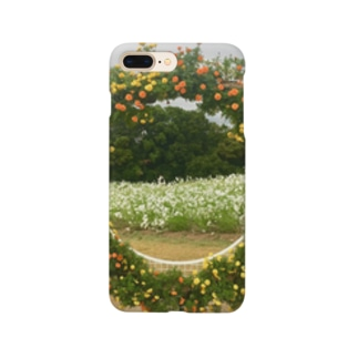 曇のち花ブーケ Smartphone cases