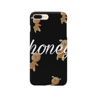くまのキャラクターくぅーま Smartphone cases