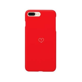 しろいいと(赤) Smartphone cases