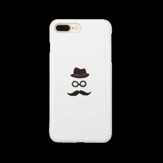 Rico-accessoriesの刺繍風ジェントルマン Smartphone cases