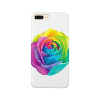 Rainbow rose(Single) Smartphone cases