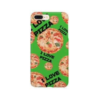 I LOVE PIZZAスマホケース Smartphone cases