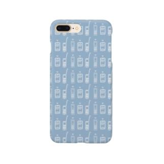 携帯まみれ(ブルー) Smartphone cases