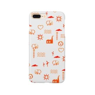スタンプ模様風iPhoneケース Smartphone cases