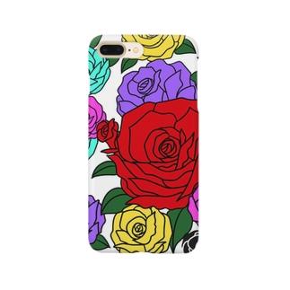 6色の高貴な薔薇 Smartphone cases
