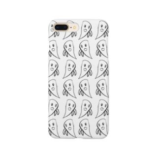 オバケのばけポン3(はれうさぎうさ) Smartphone cases