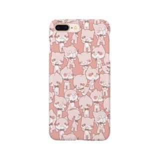 ほぼ茶色いシロ百面相 Smartphone cases