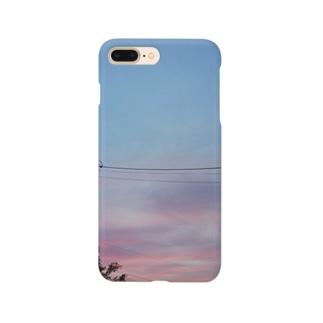 秋空の夕日 Smartphone cases