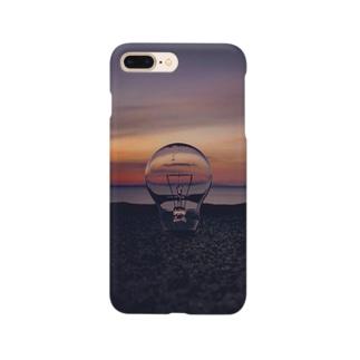 サンセットビーチ オレンジ Smartphone cases
