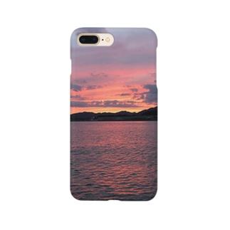 桜色夕景 Smartphone cases