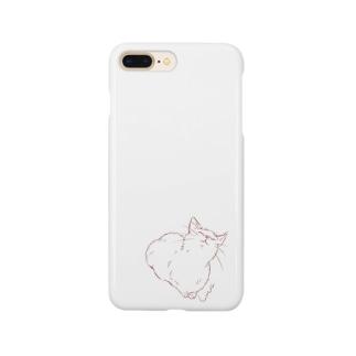 上をむく猫さん Smartphone cases
