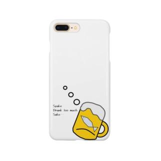 酒に溺れるシャケ Smartphone cases