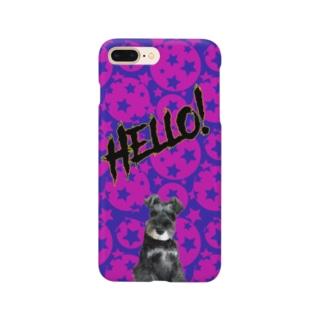 ミニチュアシュナウザーのらぶです🐾 Smartphone cases