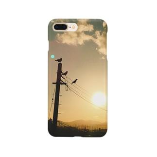 夕暮れカラス Smartphone cases