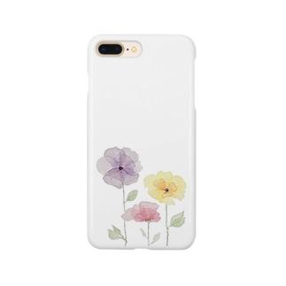 水彩ポピー Smartphone cases