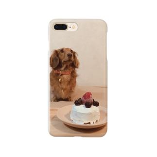 ミニチュアダックスの誕生日 Smartphone cases
