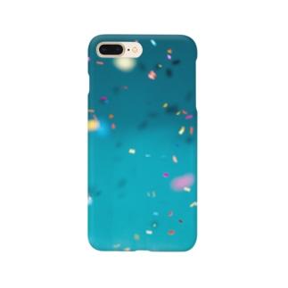 青にカラフルなひらひら Smartphone cases