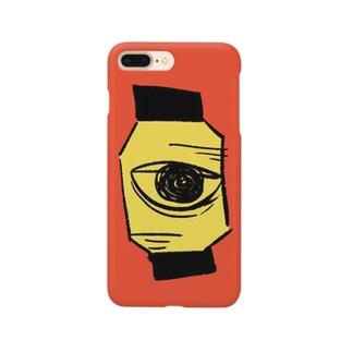 無口な提灯 スマホカバー Smartphone cases