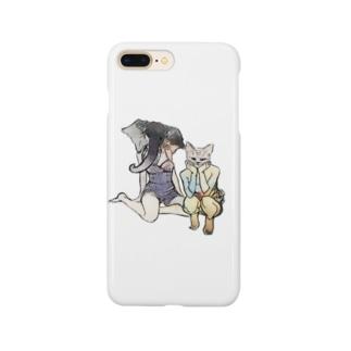 ゾウとネコ Smartphone cases