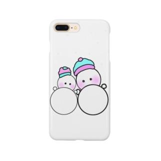 #雪だるま Smartphone cases