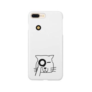 覗くチベスナさん Smartphone cases