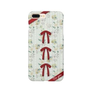 チャイナフラワー レッド Smartphone cases