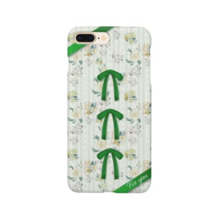 チャイナフラワー グリーン Smartphone cases