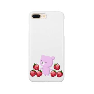クマとイチゴ Smartphone cases
