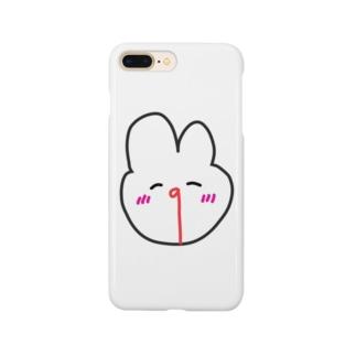 瀕死うさぎ(死因:推しがかわいい) Smartphone cases