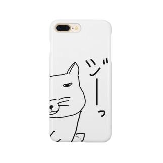 物陰から覗くチベスナさん Smartphone cases