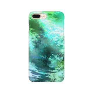 緑の大自然 Smartphone cases