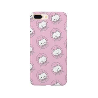ねこにこばん(ピンク) Smartphone cases