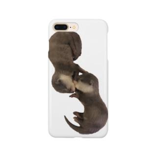 お眠り子カワウソ Smartphone cases