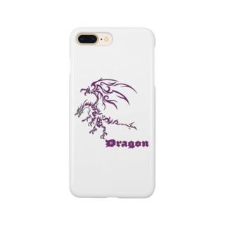 ドラゴンⅦ(紫色) Smartphone cases