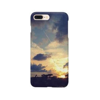海沿いの夕焼け Smartphone cases