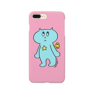ネジネコ/ピンク Smartphone cases