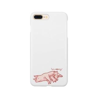 豚社会のマナー Smartphone cases