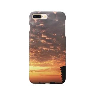 空、サンライズ、サンセット、朝焼け、夕焼け Smartphone cases
