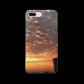 ANGOの空、サンライズ、サンセット、朝焼け、夕焼け Smartphone cases