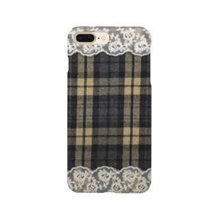 チェック&レース Smartphone cases