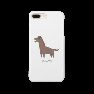 M-HOMEのUMAくん(栗毛) iPhoneケース Smartphone cases
