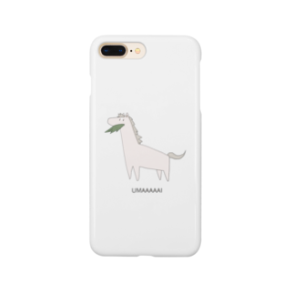 M-HOMEのUMAくん(芦毛) iPhoneケース Smartphone cases