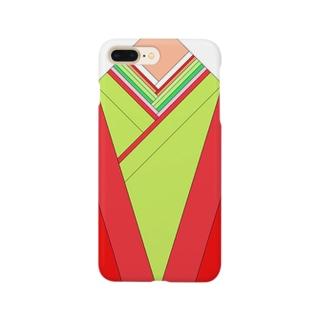 十二単(赤) Smartphone cases